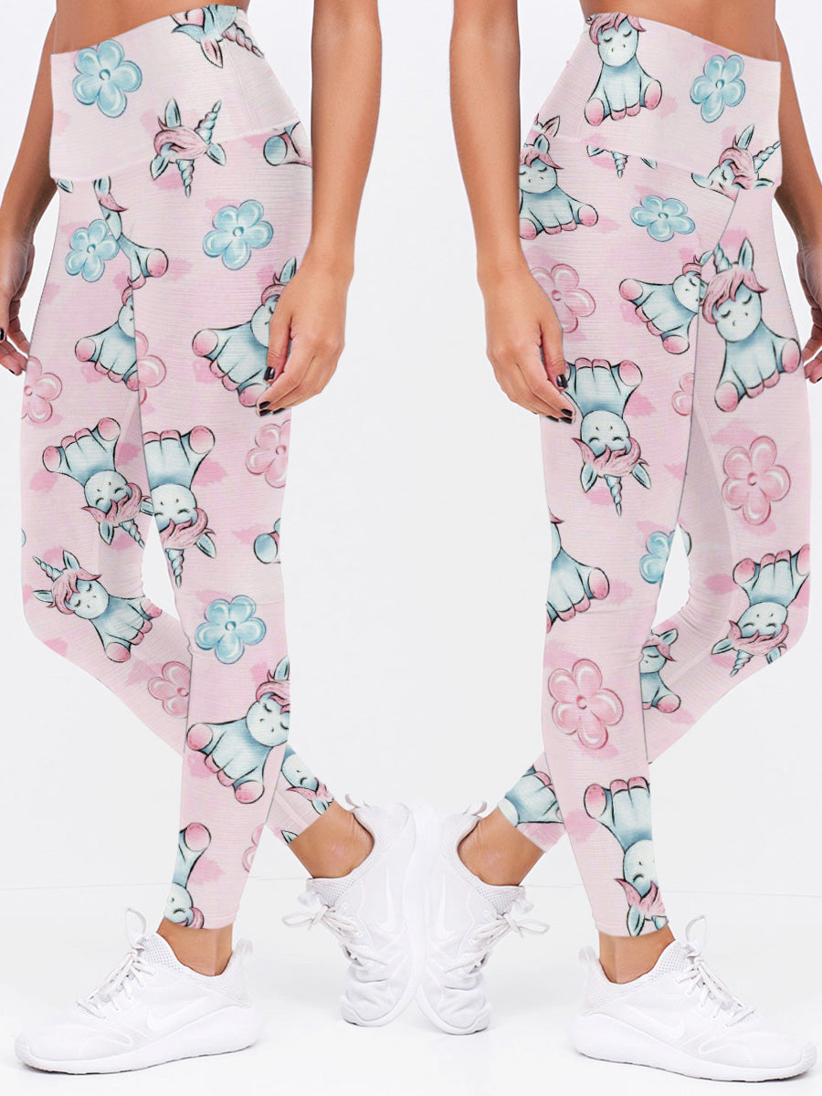 Cute Unicorn Pink Legging