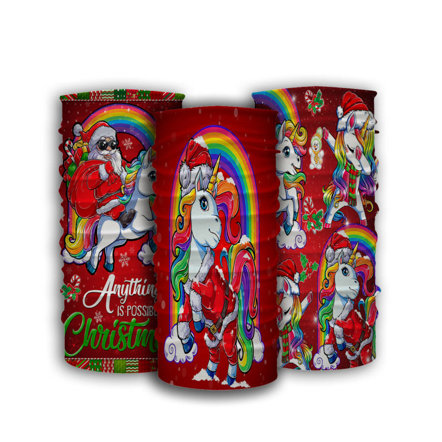 Unicorn Christmas Bandana 3pcs