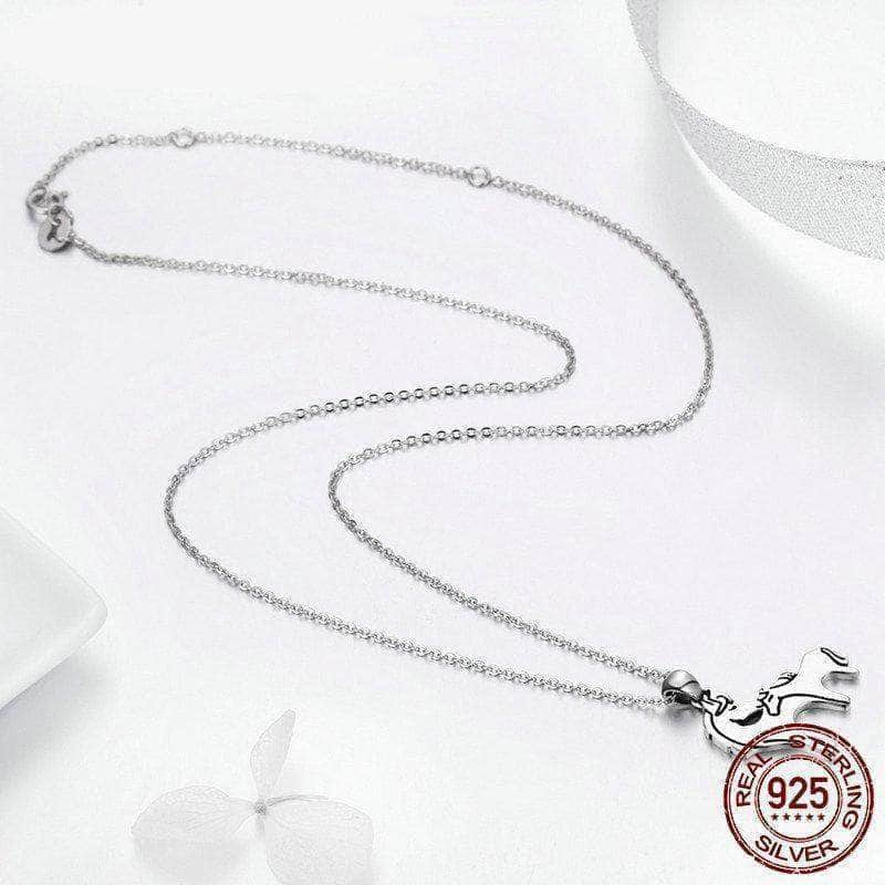 925 Sterling Silver Loving Horse Mother Pendant Necklace