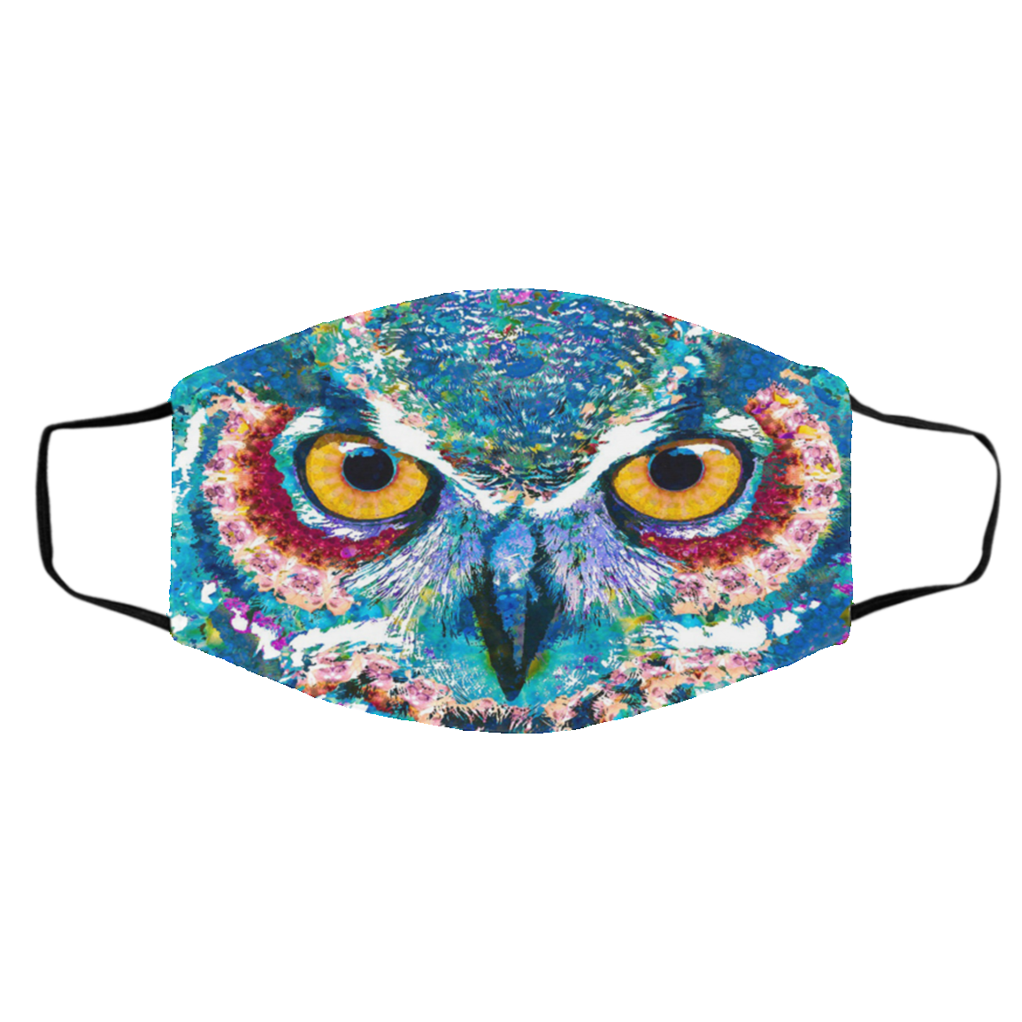 Owl Color Cloth  Face Mask