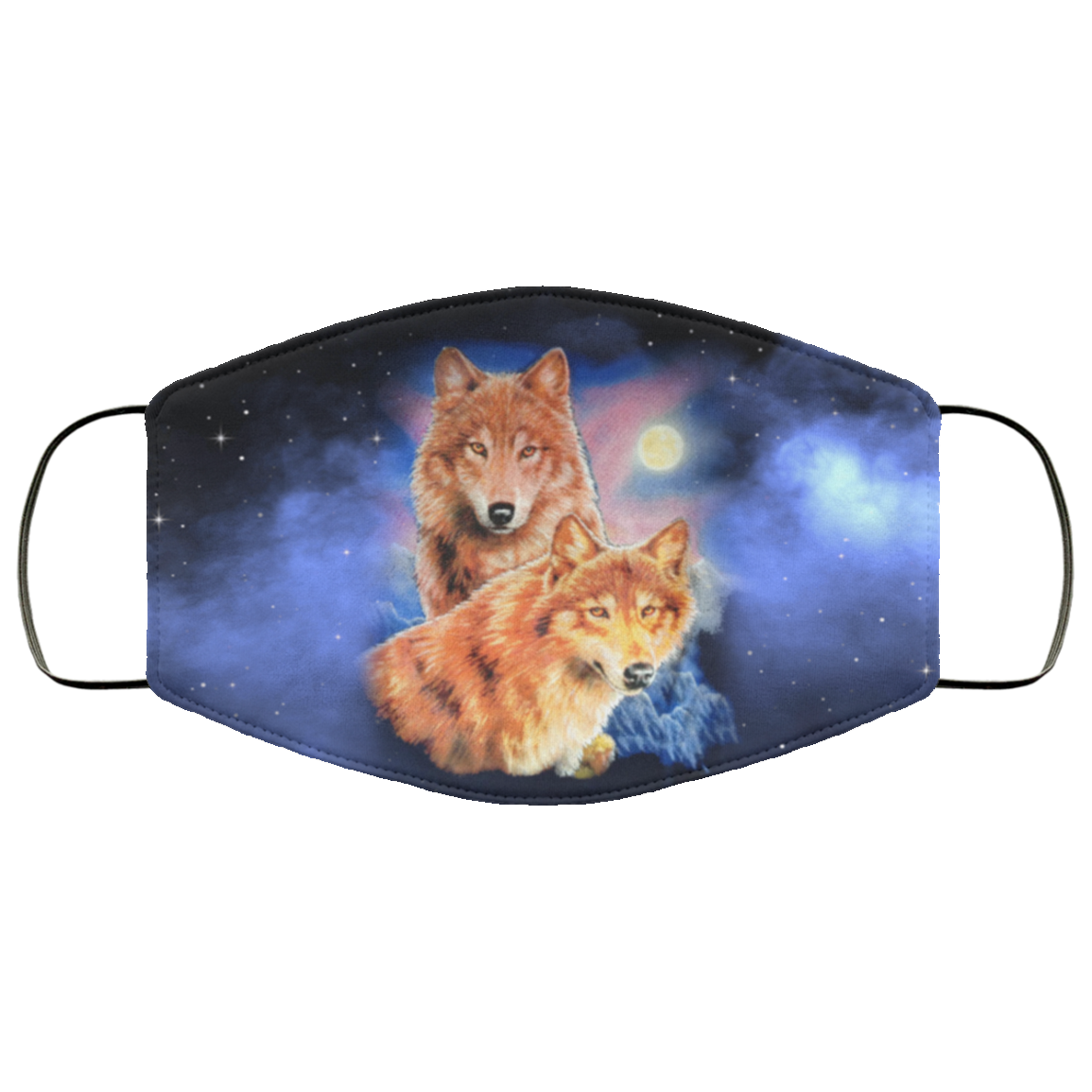 Wolf Galaxy Face Mask