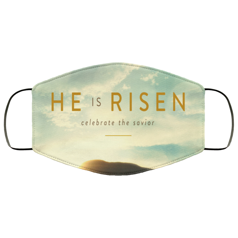 He Is Risen Face Mask