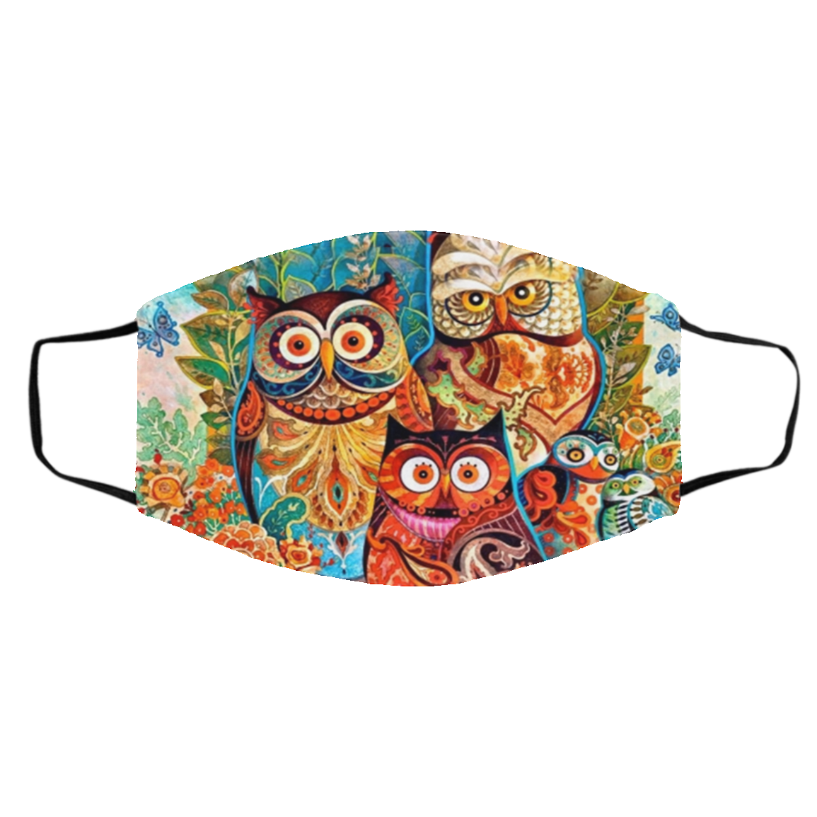 Owl Native Color Cloth Face Mask