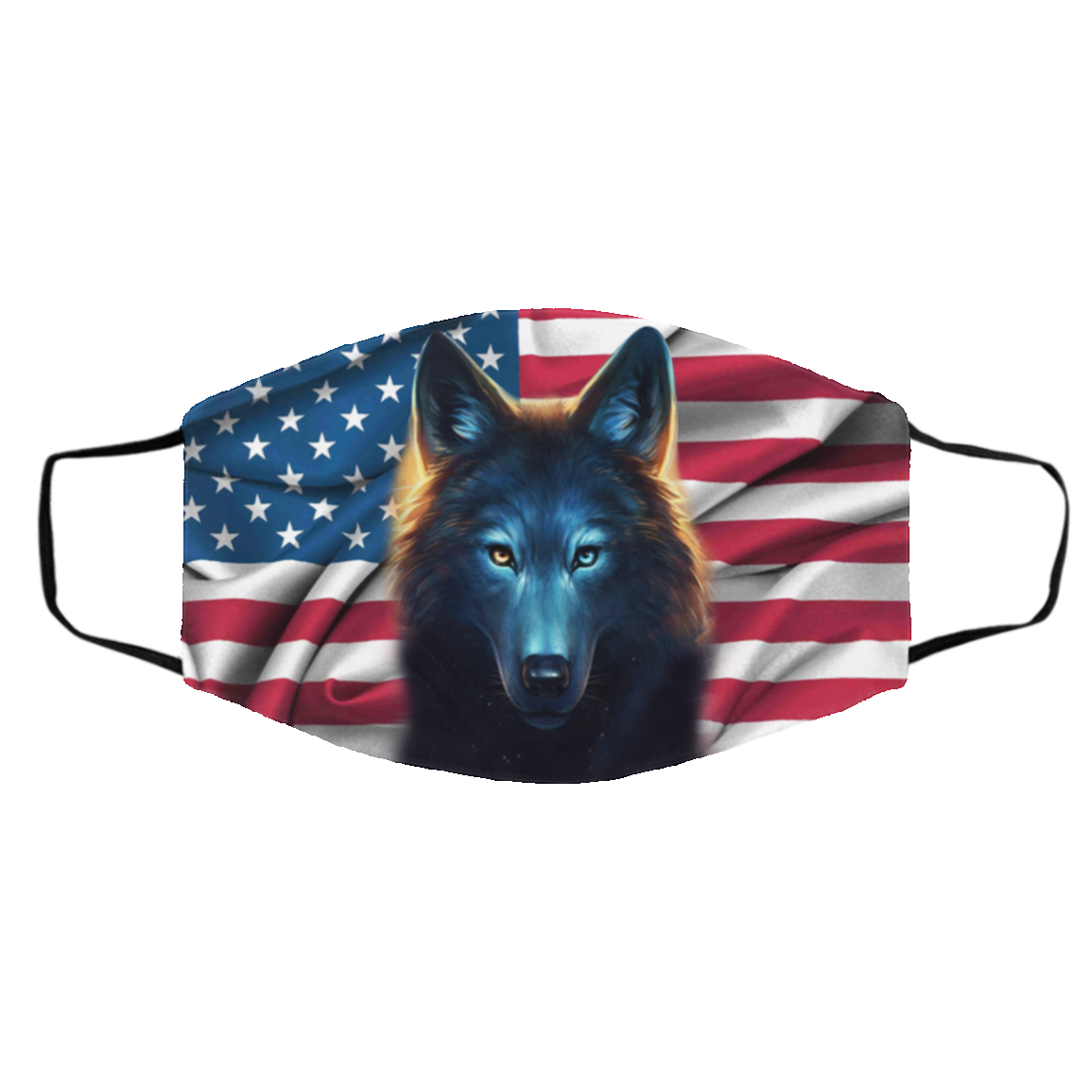 Wolf American Cloth Face Mask