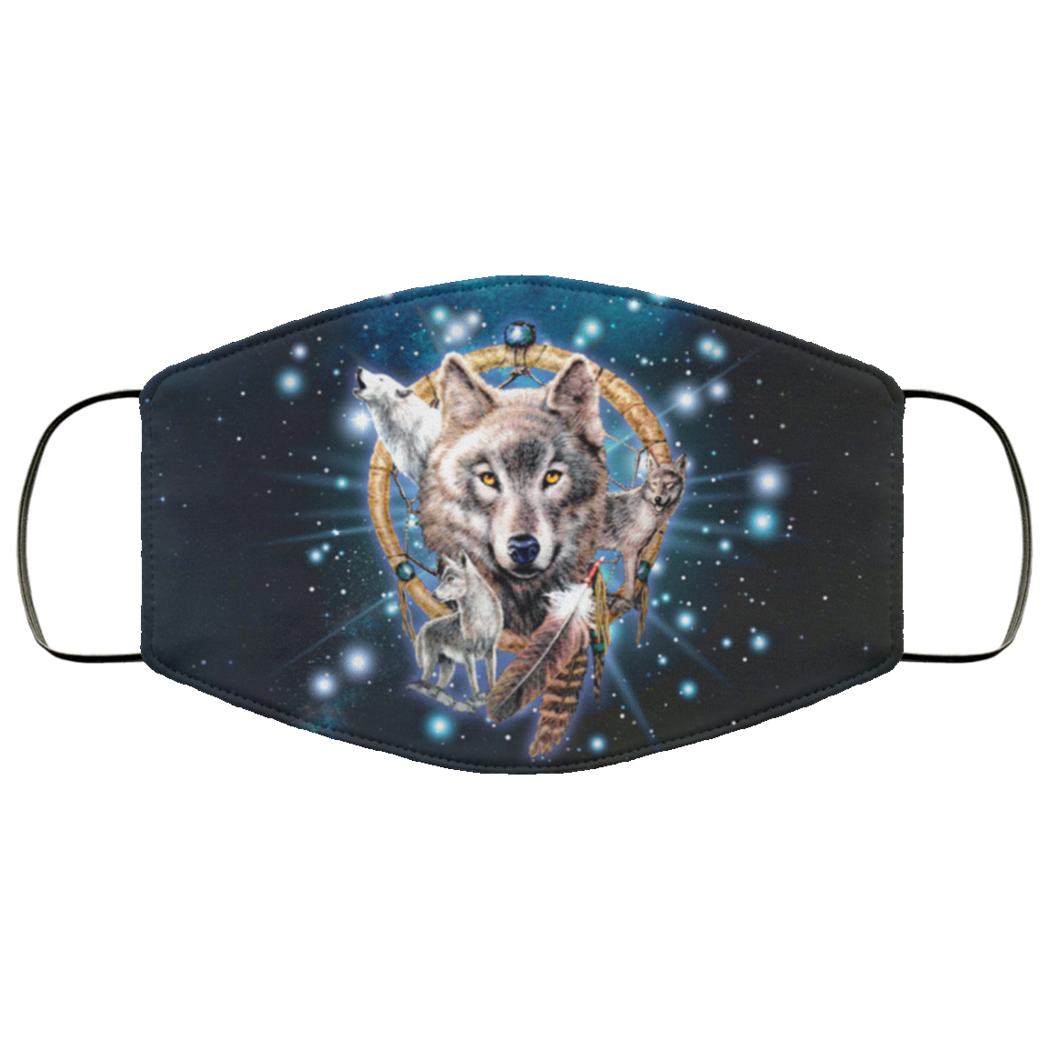 Wolf Native Catcher Face Mask