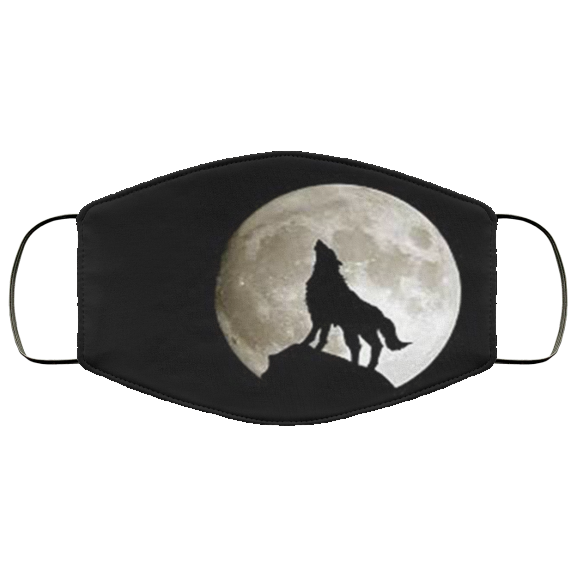Black Wolf Face Mask