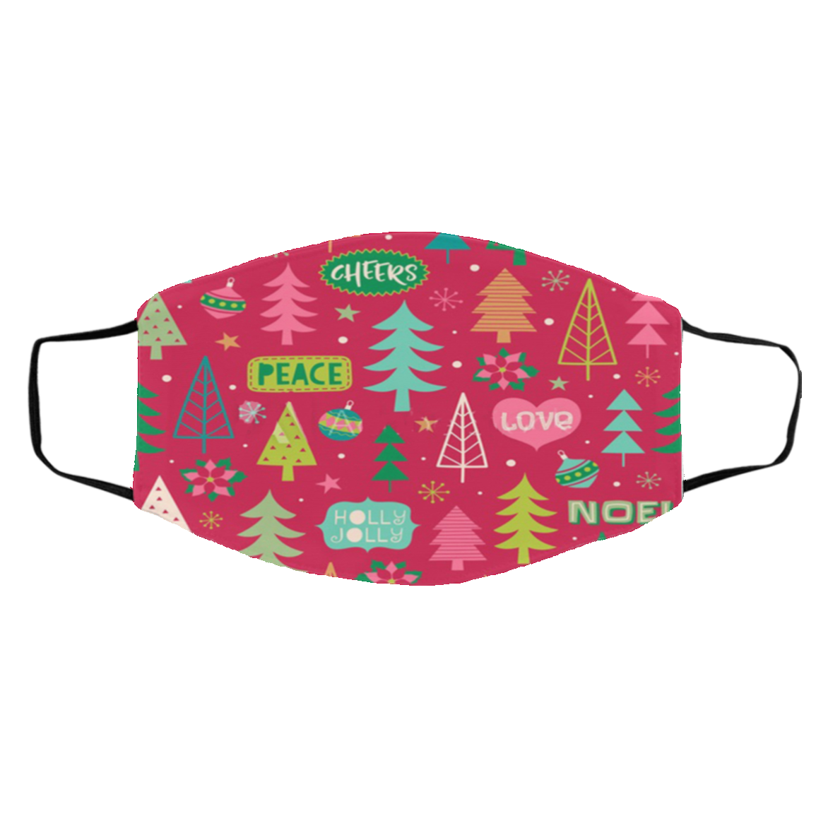 Peace Holly Xmas cloth Face Masks