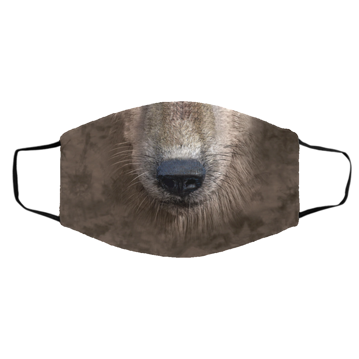 Wolf Native Cloth Face Mask