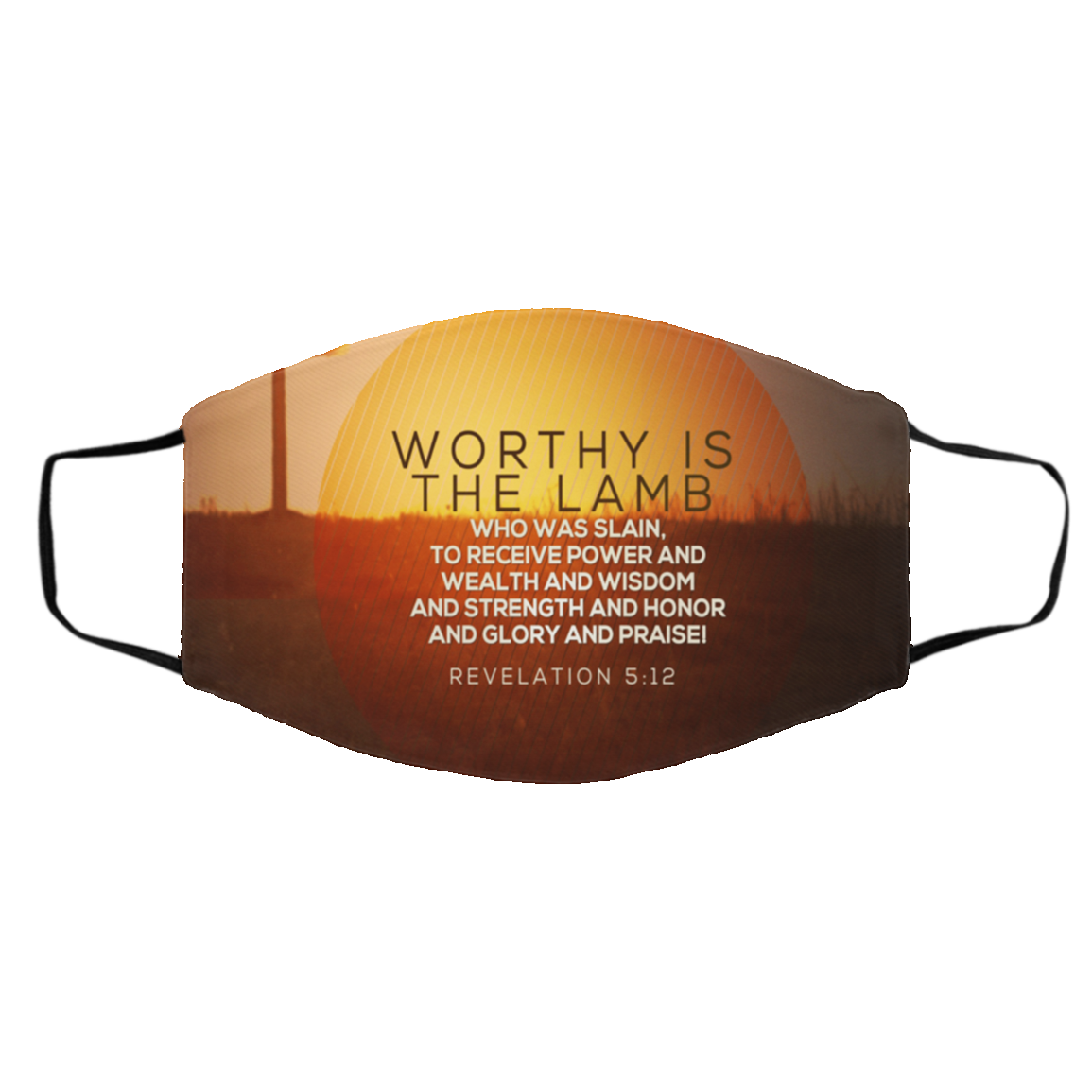 Worthy is The Lamb Face Mask