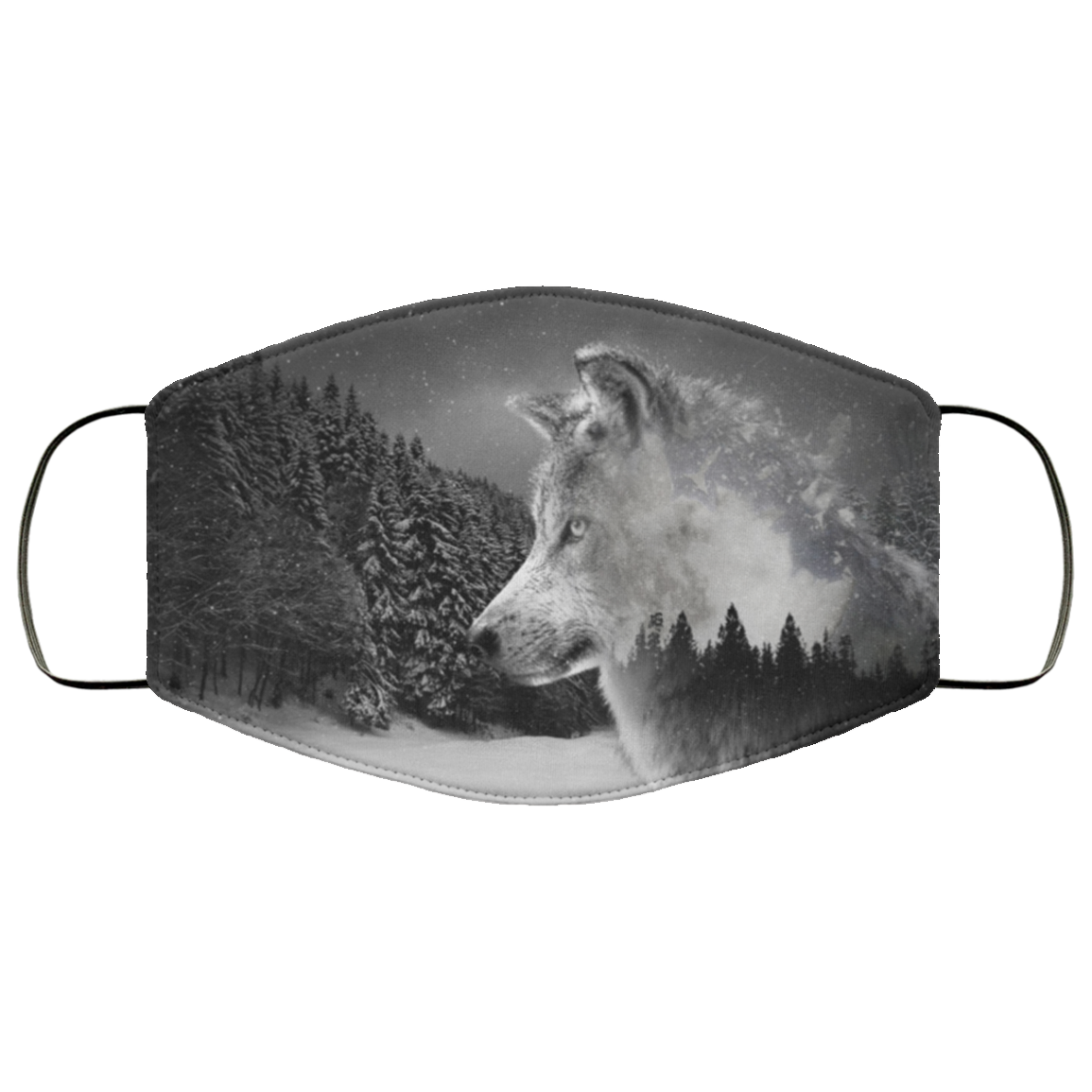 Grey Wolf Face Mask Face Mask