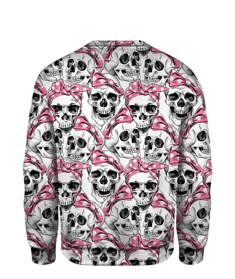 Skull with bow pattern shirt