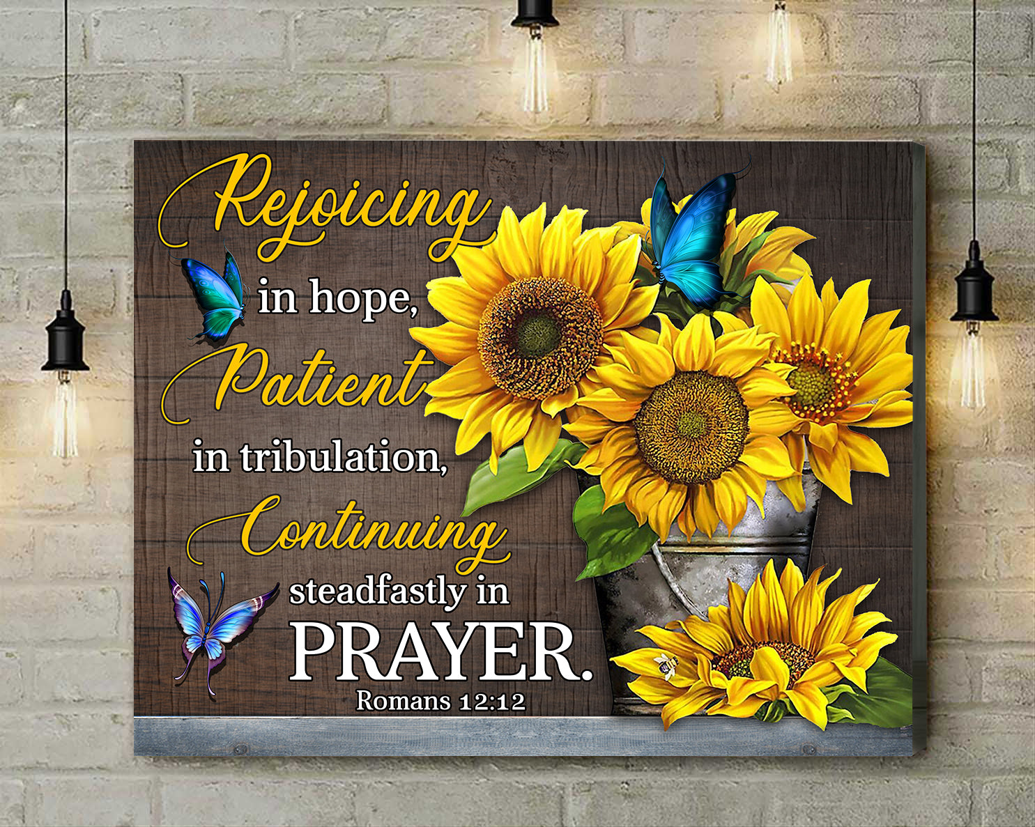 Romans 12:12 Rejoicing In Hope Canvas