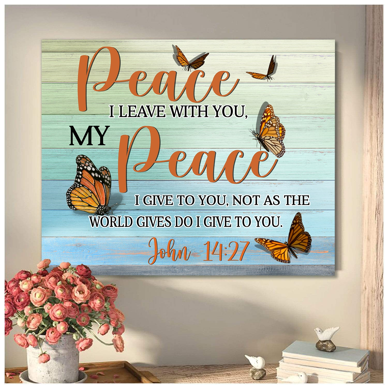 Peace I Leave With You Butterfly Canvas