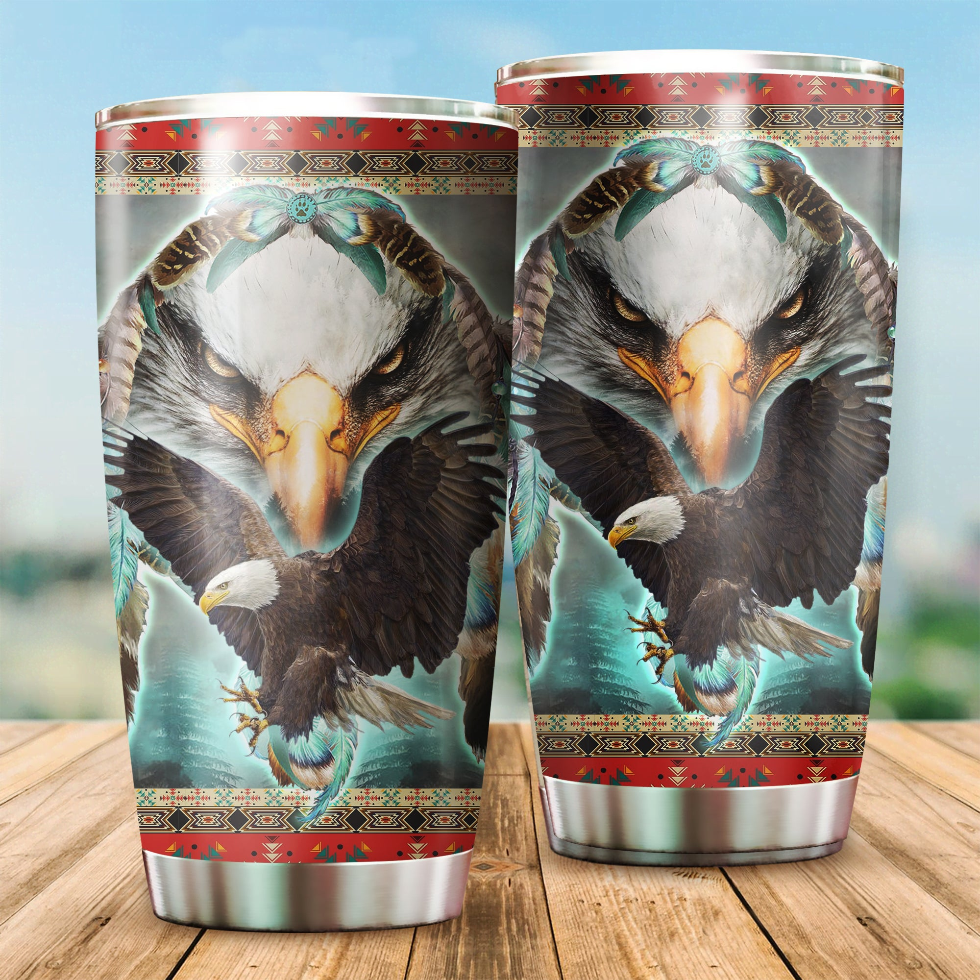 Eagle American Native Tumbler