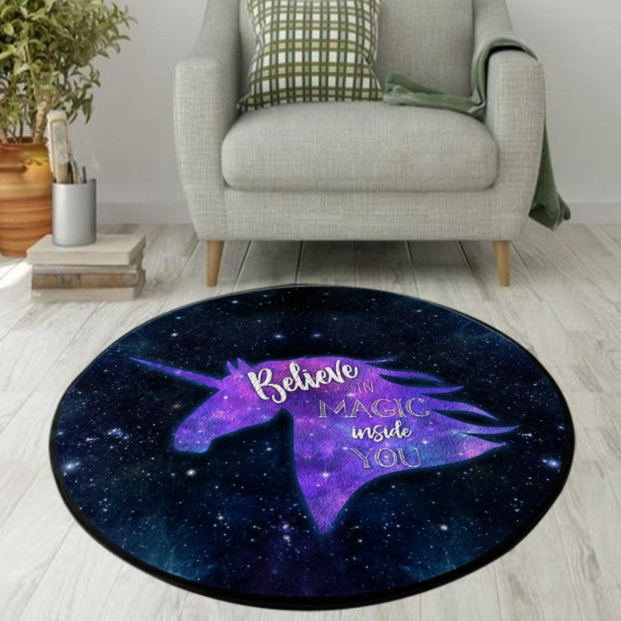Unicorn Believe in Magic Round Rug