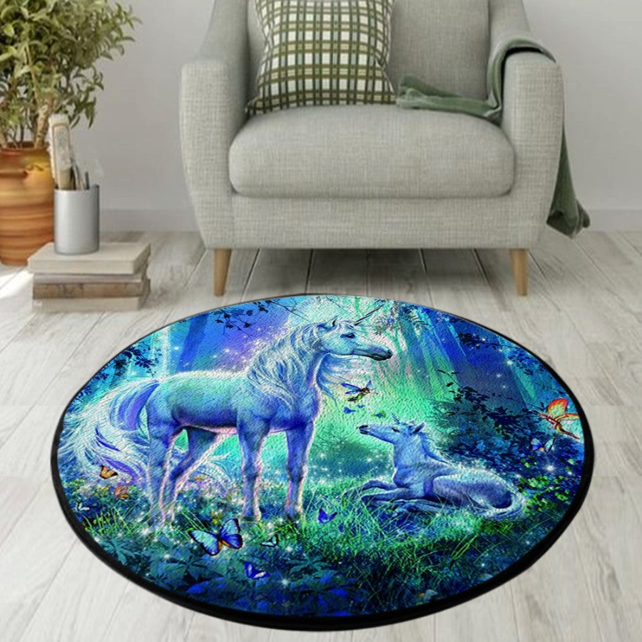 Magical Unicorn Round Rug