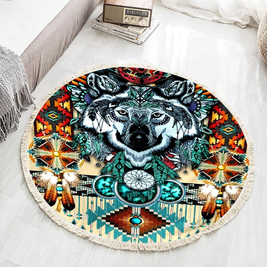 Native American Round Rug