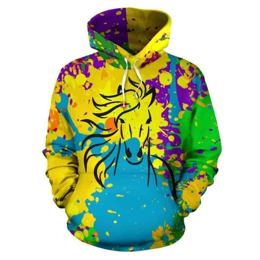 All Over Hoodie Horse