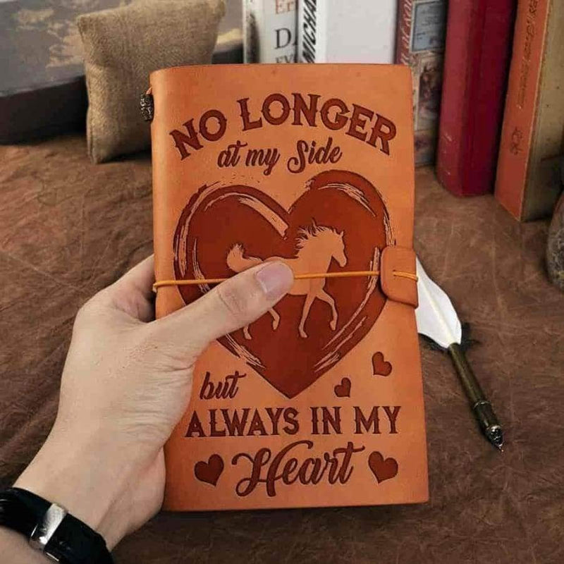 Always in my heart horse - Leather journal