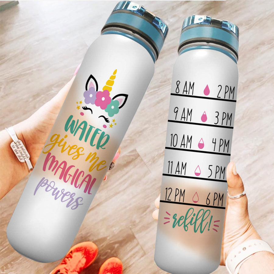 Magical Unicorn - Water Tracker Bottle