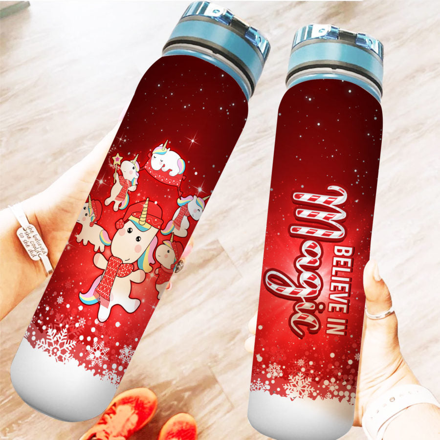 Unicorn Xmas - Water Tracker Bottle