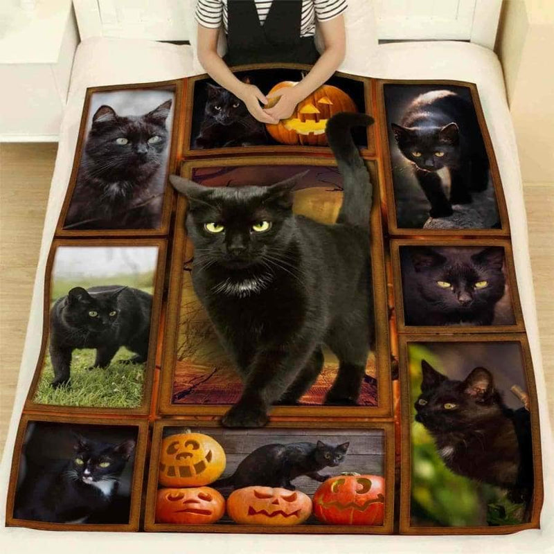 Black Cat Blanket