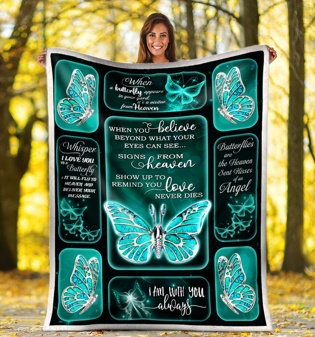 Butterfly Silver Premium Blanket