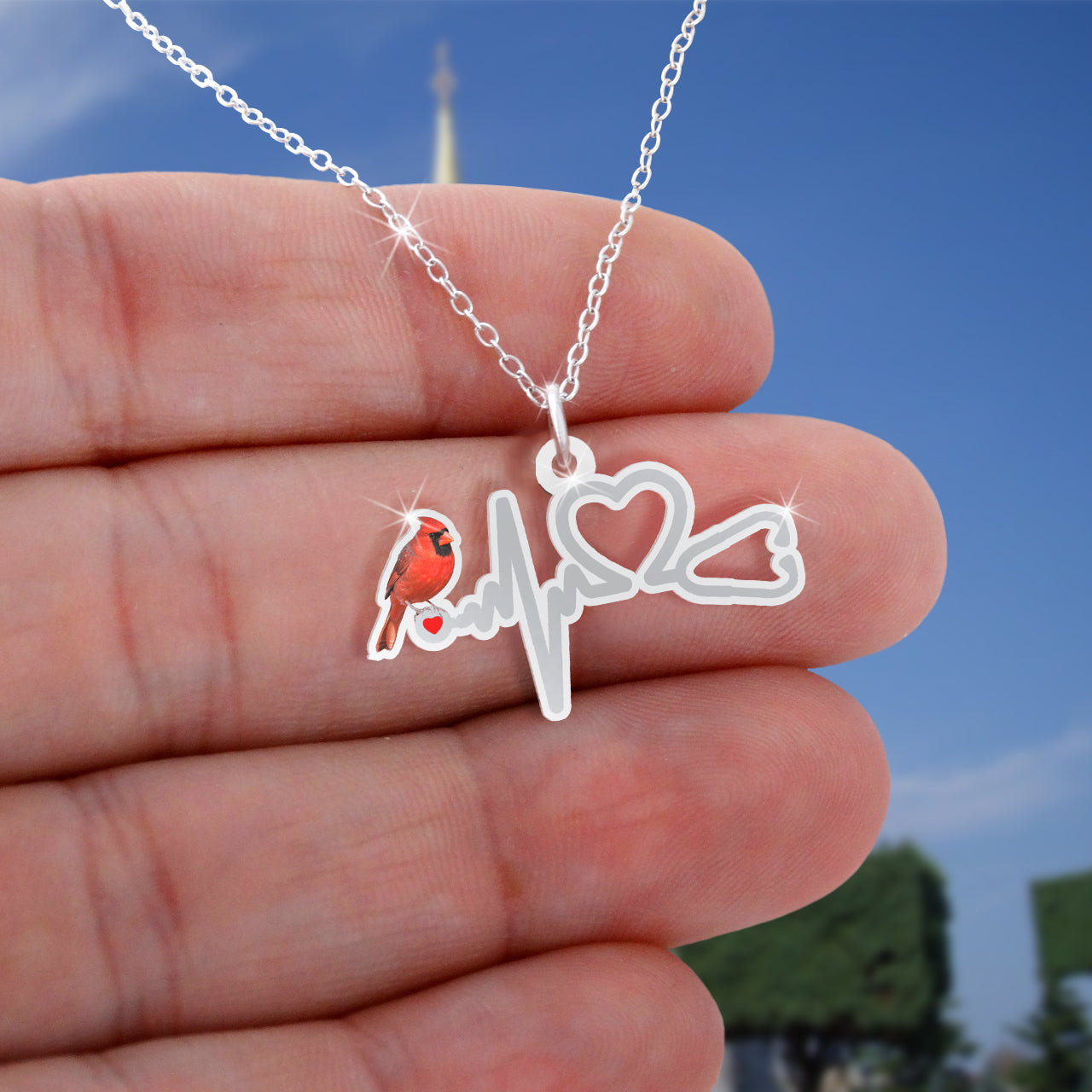 Heartbeat Cadinal Necklace