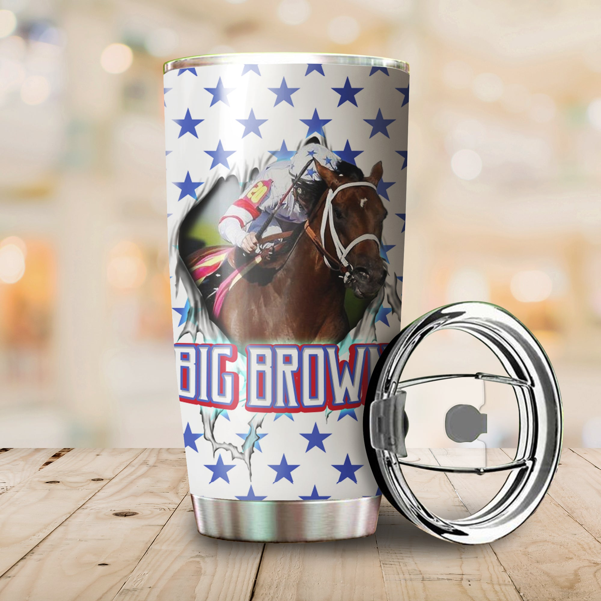 Big Brown Horse Tumbler