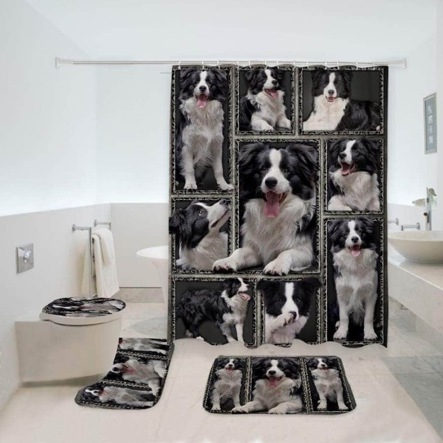 Border Collie Bathroom Set