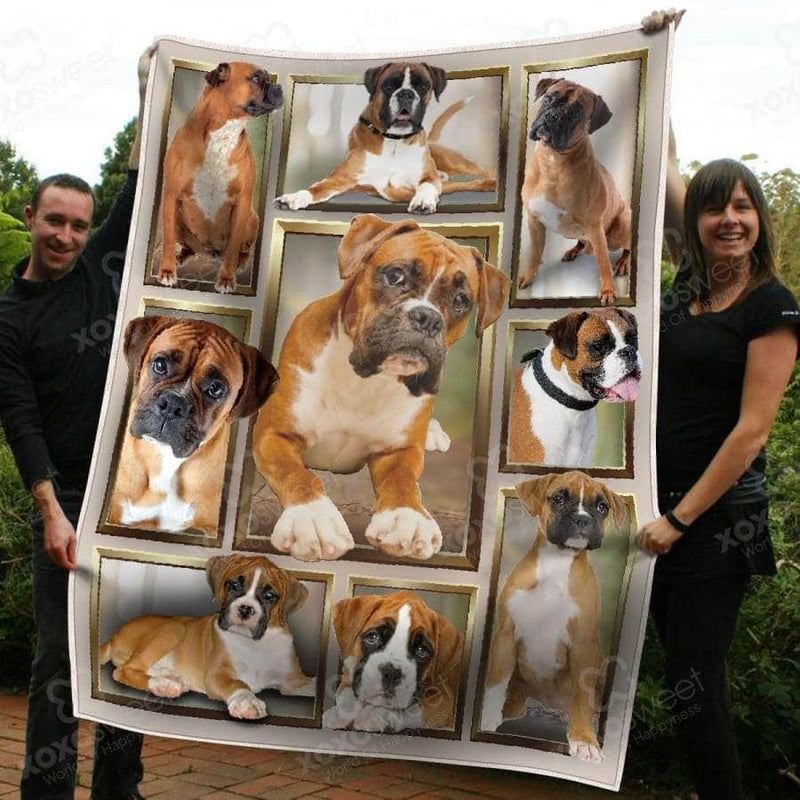 Boxer Dog Blanket
