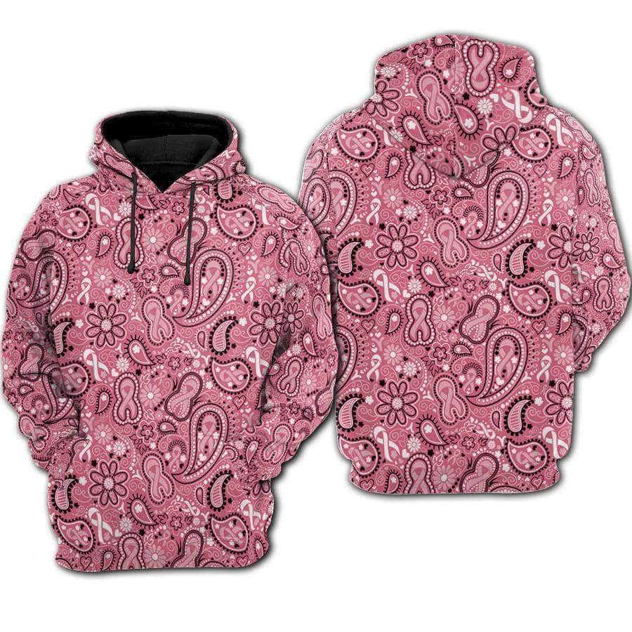 Breast Cancer Paisley - Hoodie