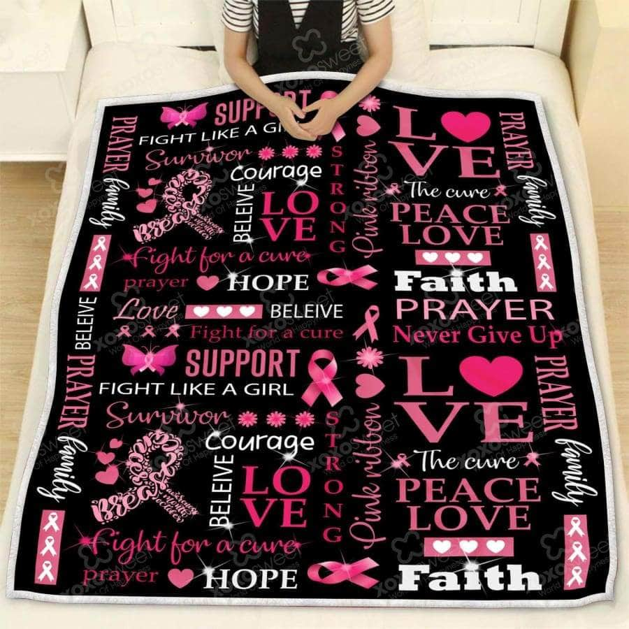 Breast Cancer Quotes - Blanket