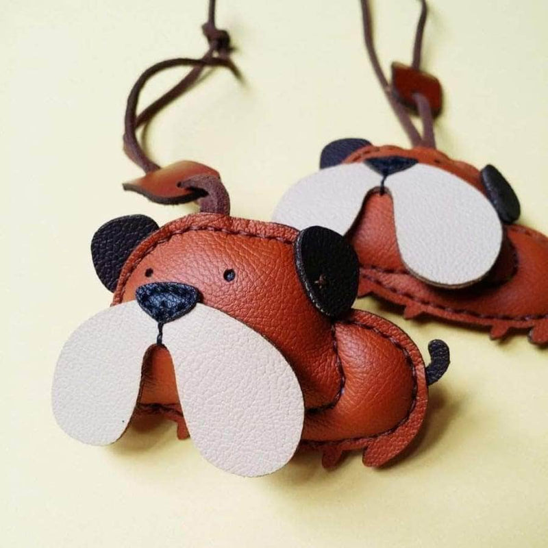 BULLDIE HANDMADE LEATHER CHARM