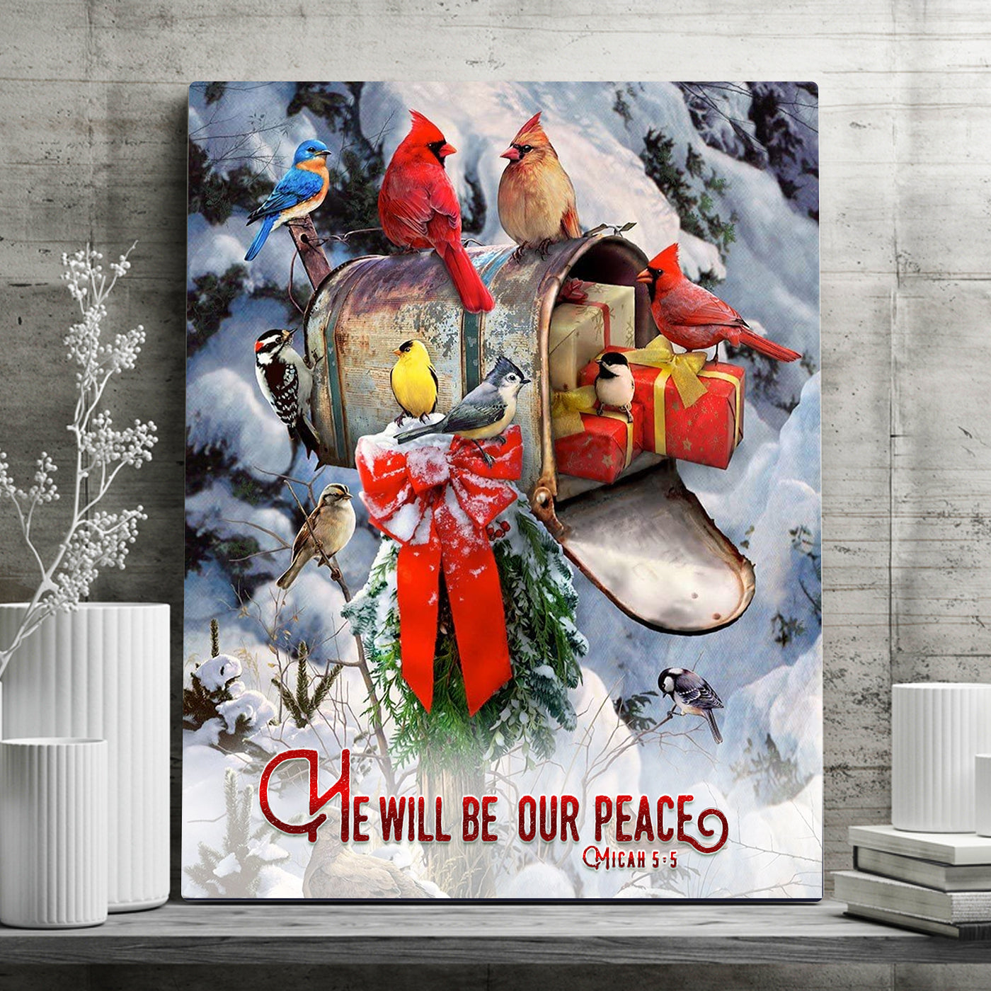 He Will Be Our Peace Xmas Canvas