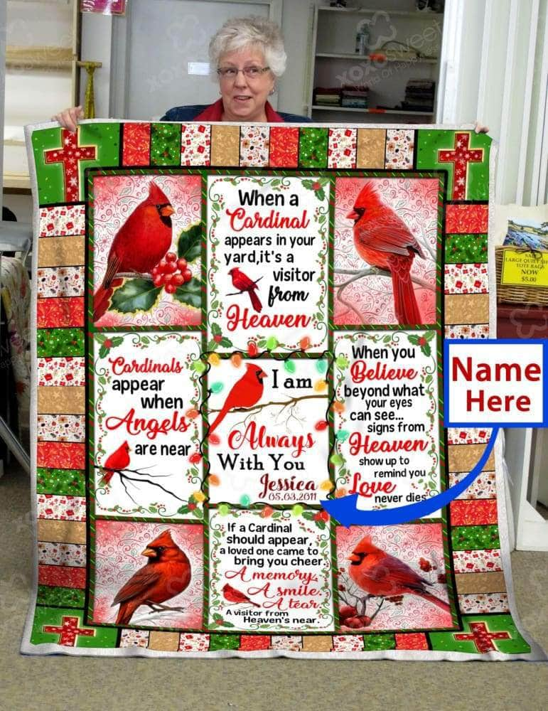 Cardinal Custom Name - Blanket