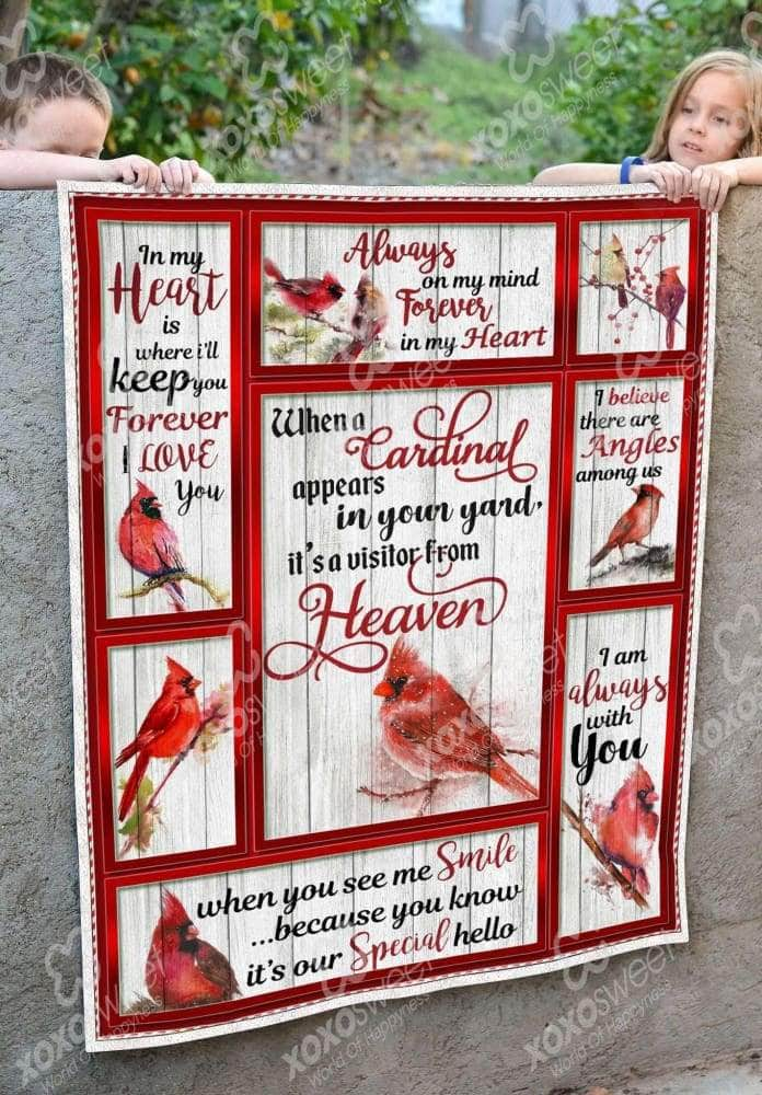 Cardinal From Heaven Blanket