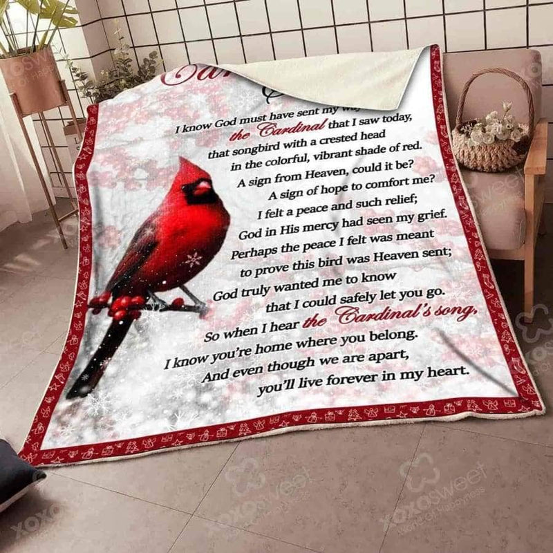 Cardinal Song Blanket