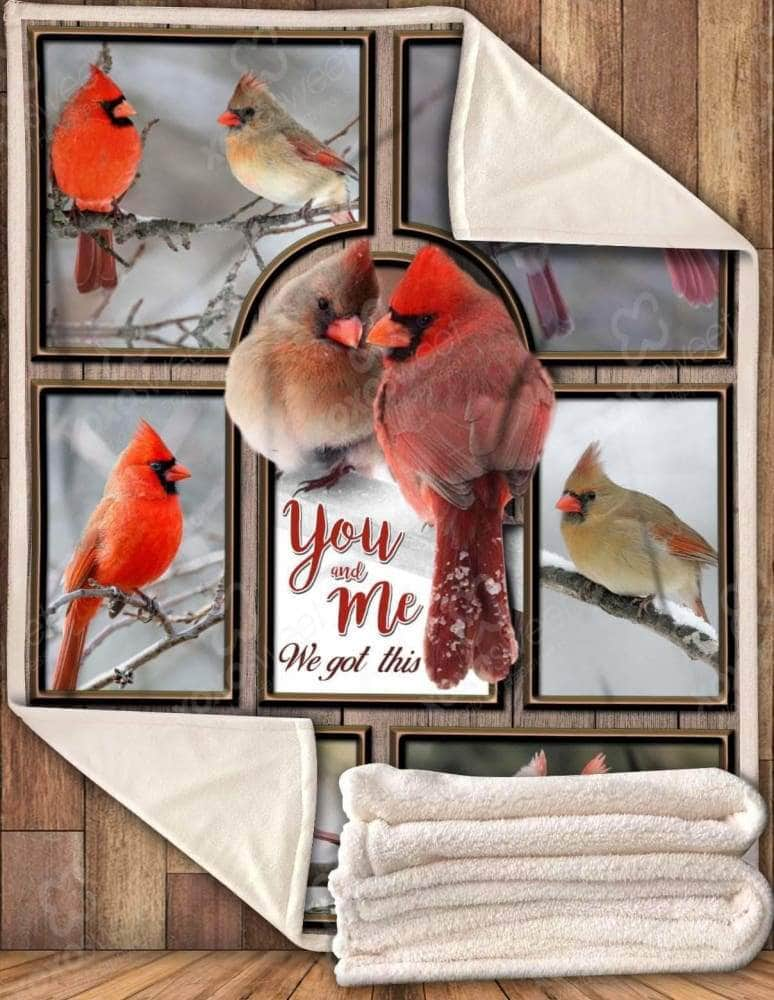 Cardinal You & Me We Got This Blanket