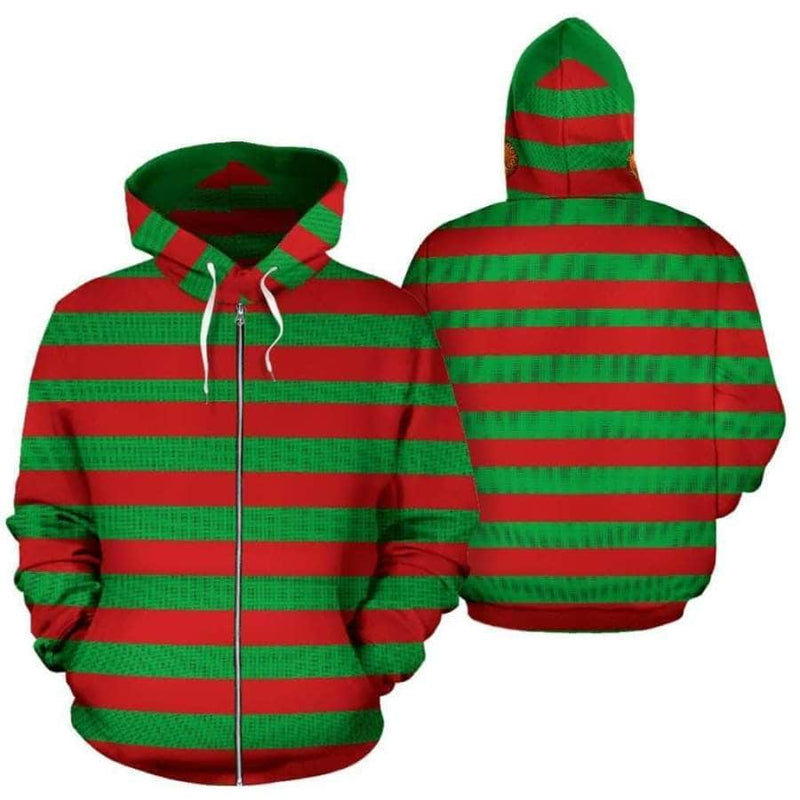 Christmas Ball All Over Zip-up Hoodie