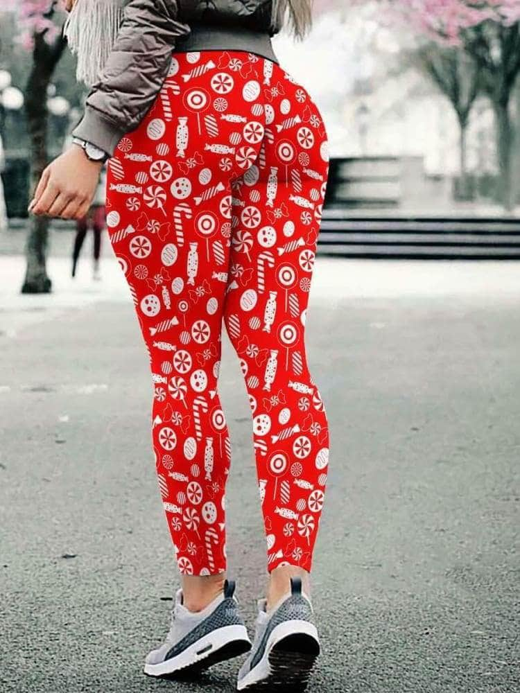 Christmas Candy 3D Leggings