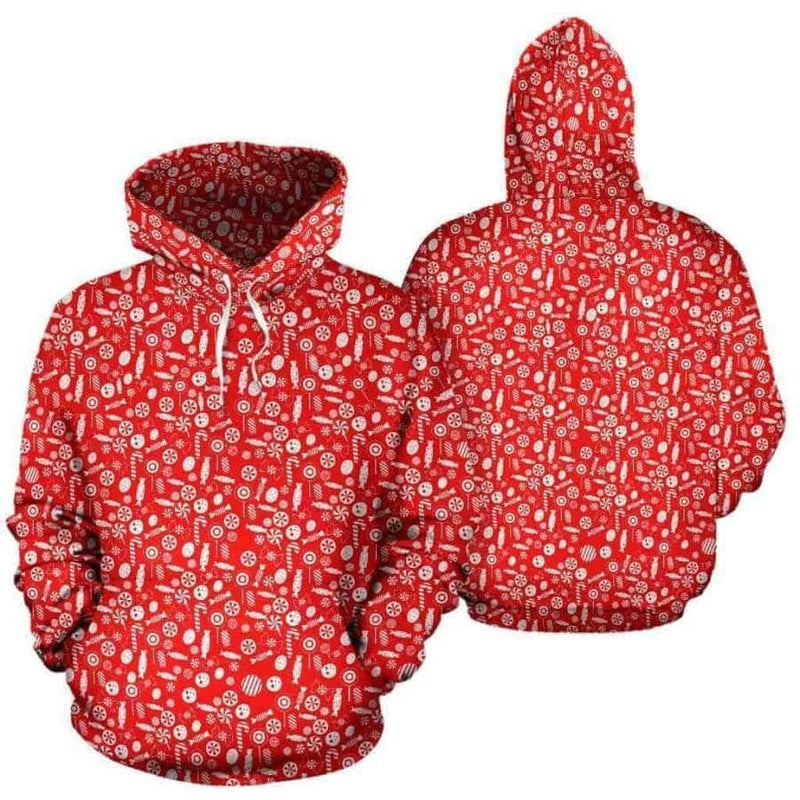 Christmas Candy All Over Hoodie