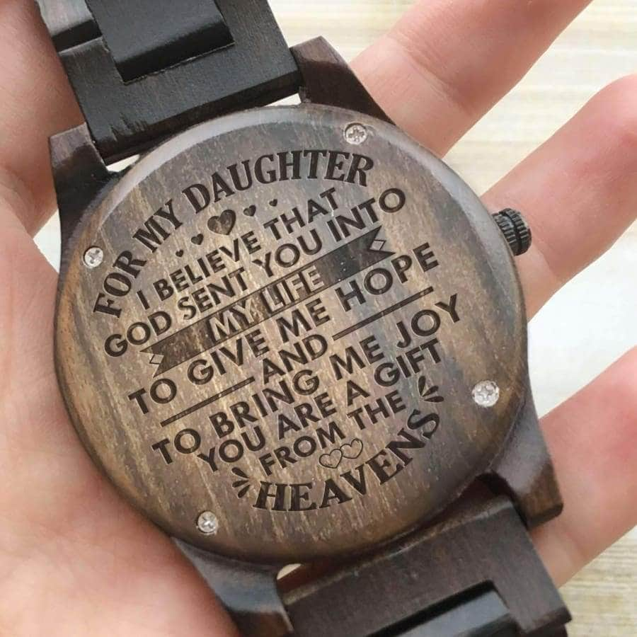 CHRISTMAS GIFT FOR DAUGHTER - WOODEN WATCH FOR DAUGHRT