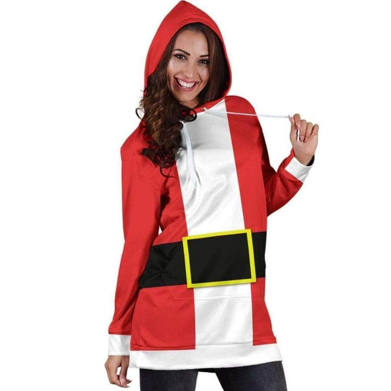 CHRISTMAS SANTA COSTUME - HOODIE DRESS