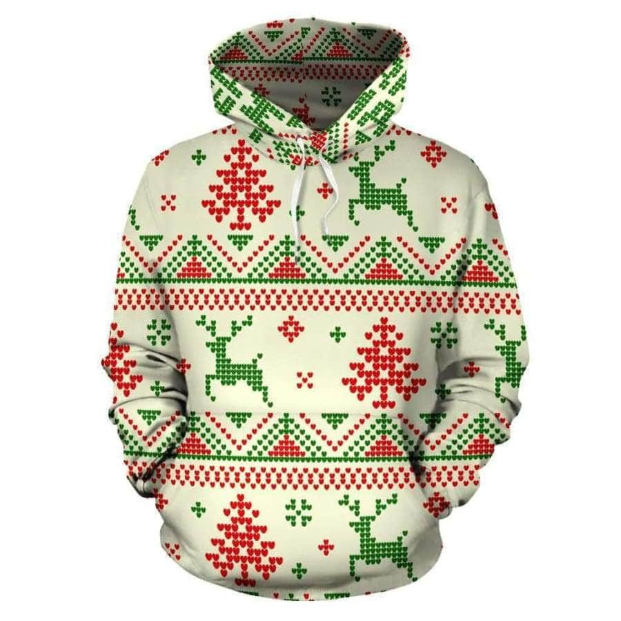 Christmas Snow All Over Hoodie