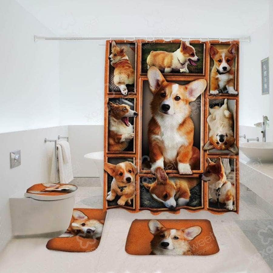 Corgi Bathroom Set