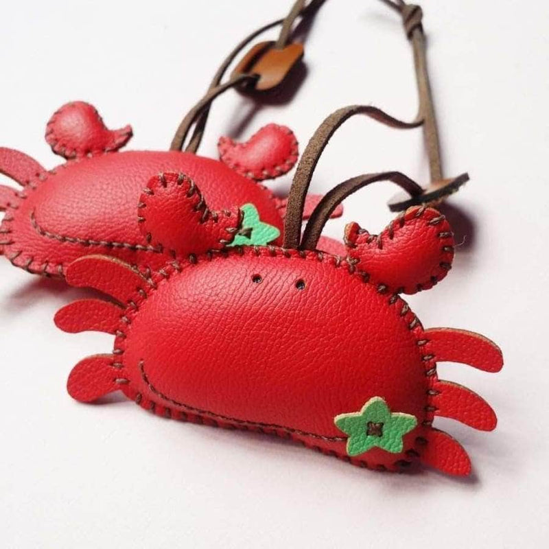 Crabie Handmade Leather Charm