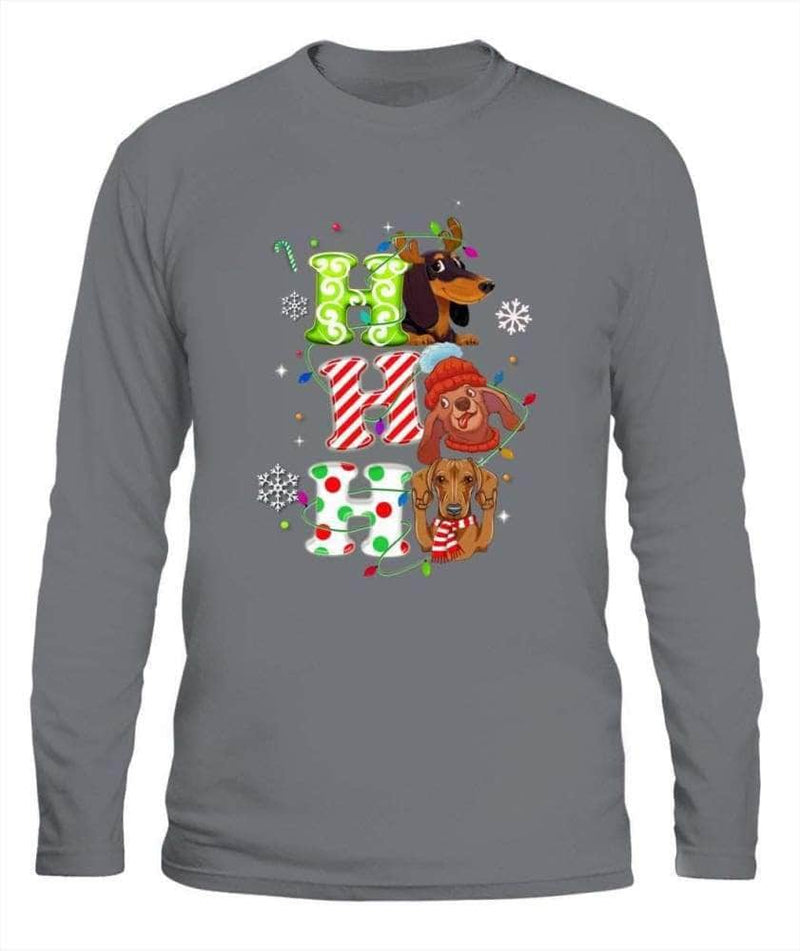 Dachshund hohoho - Mens Long Sleeve