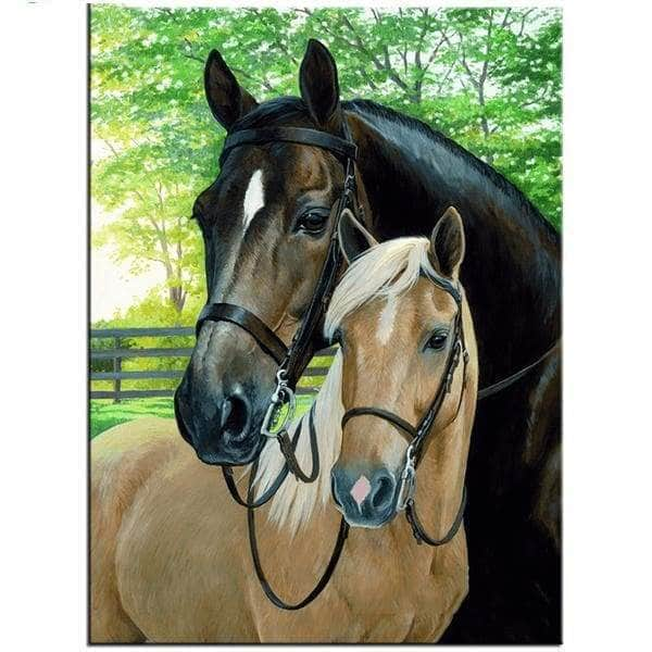 Diamond Embroidery DIY Painting Cross Stitch Kit Two horse