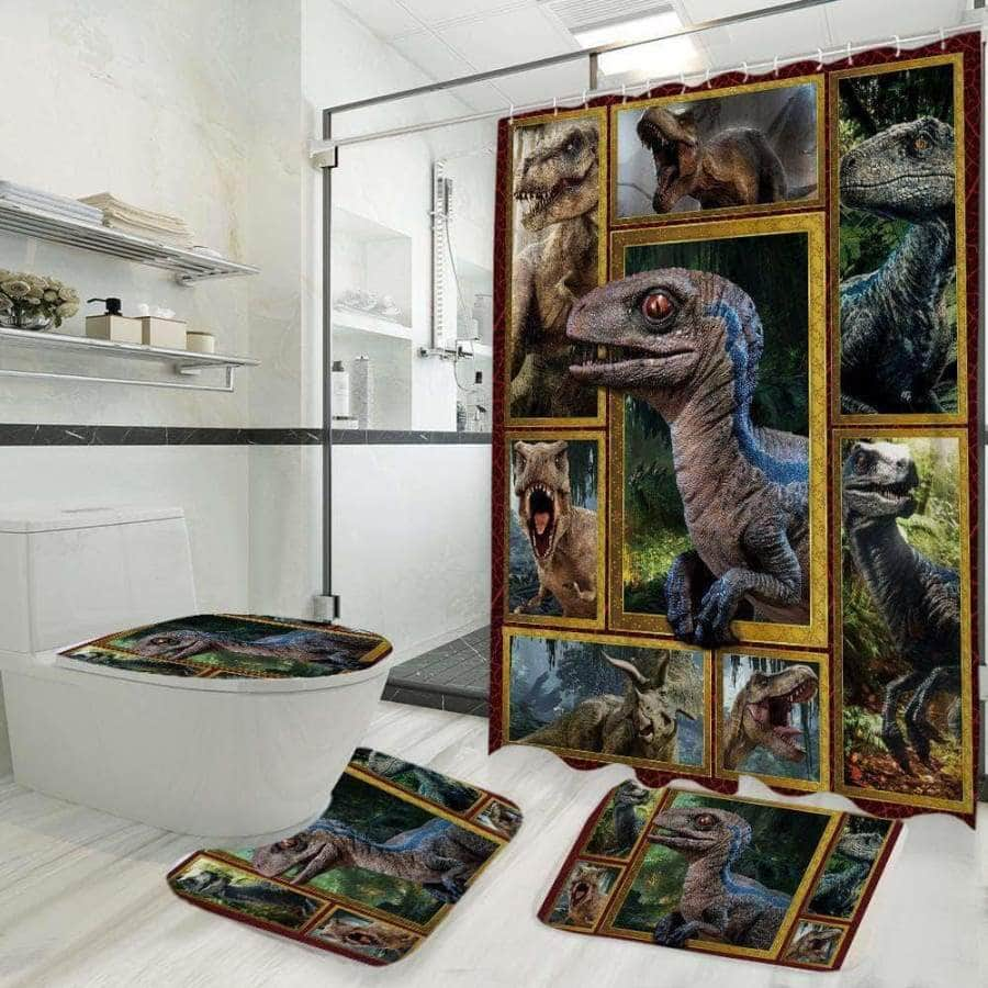 Dinosaur Shower Curtain